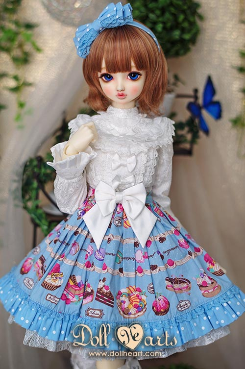 [Pre-order] LD000745 Blue Printed Holiday Dress [SD13 G Ver]